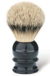 Edwin Jagger scheerkwast dashaar zilverspits zwart L